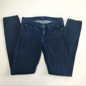 7 For All Mankind Skinny Jeans Size 28